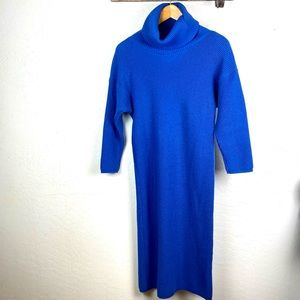 Vintage 90s Dress Turtleneck Dress 90s Aesthetic